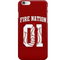 Fire Nation Jersey #01 iPhone Case/Skin
