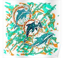 dolphins pop art  Poster