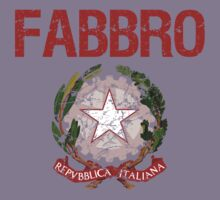 Fabbro Surname Italian Kids Clothes