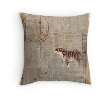 Paper Tiger Throw Pillow