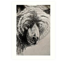 Drunk Grizzly Art Print