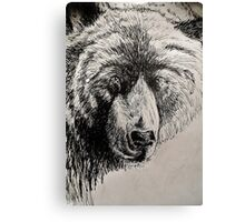 Drunk Grizzly Canvas Print