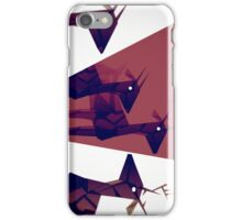 Geometric animals A iPhone Case/Skin