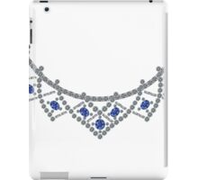 1950s Diamond Sapphire Necklace iPad Case/Skin