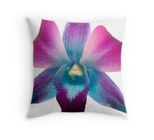 Blue Orchid Throw Pillow