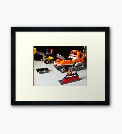boys toys trucks Framed Print
