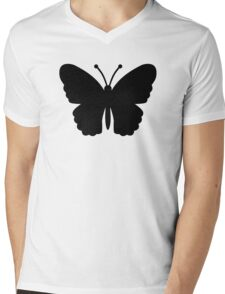 Black butterfly Mens V-Neck T-Shirt