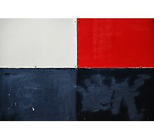 red, white and black Photographic Print