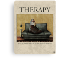 Therapy Poster Canvas Print