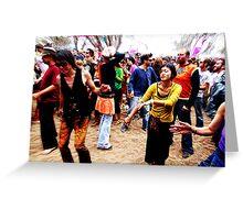 Dancefloor tranced Greeting Card