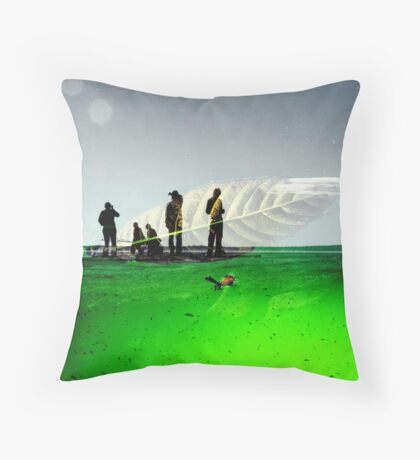 leafboat Throw Pillow