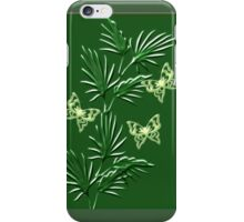 A leaf with butterfly ( Wall Art) design  (3854  Views) iPhone Case/Skin
