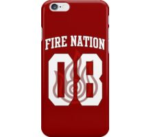 Fire Nation Jersey #08 iPhone Case/Skin