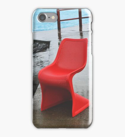 Chair by the sea iPhone Case/Skin