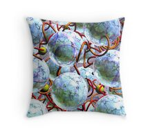 Number 2 Space Throw Pillow