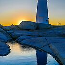 Lighthouse at Sunset by kenmo
