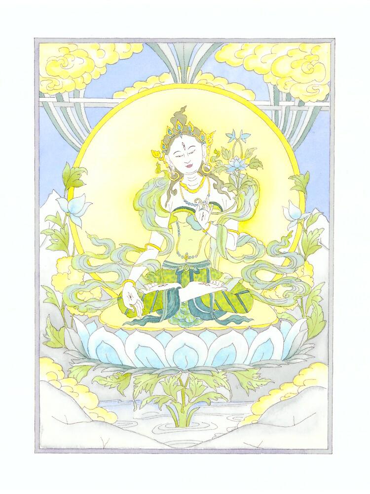 Tara Buddha by Jenny Opie