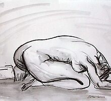 2006 Nude Female Study by Simon Collins