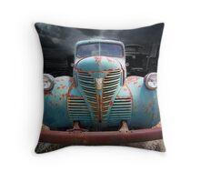 Old Fargo Truck Throw Pillow