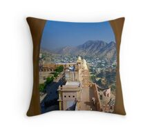 Archway to Amber Throw Pillow