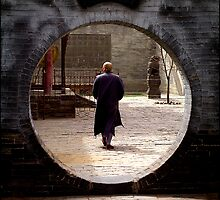 Huayan Temple monk, Datong, China 2006 by John Tozer