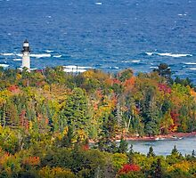 Lighthouse at Au Sable Point by Kenneth Keifer