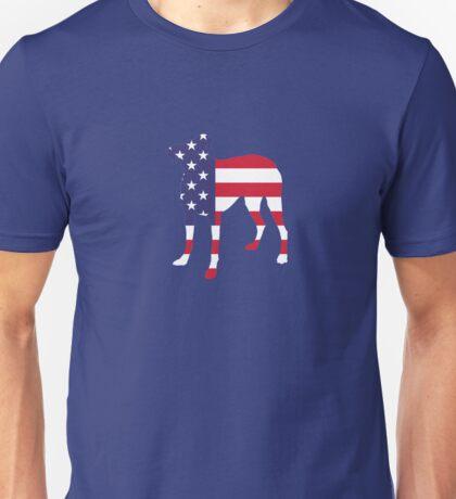 Dog Bulldog American Flag  Unisex T-Shirt