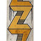 escher bolt skate deck by vinpez