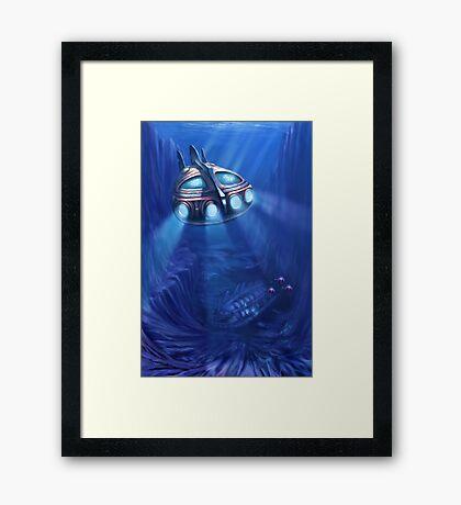 the Wreck Framed Print