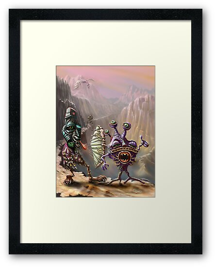 Three Friends cross the Atlip desert by Tom Godfrey