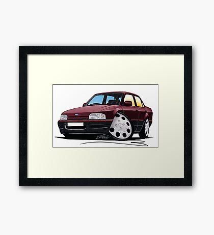 Ford Orion Burgundy Framed Print