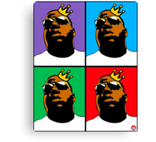 HIP-HOP ICONS: NOTORIOUS B.I.G. (4-COLOR) Canvas Print