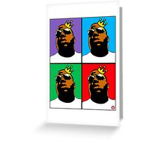 HIP-HOP ICONS: NOTORIOUS B.I.G. (4-COLOR) Greeting Card