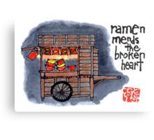The Ramen Vendor's Cart Canvas Print