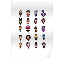 Disney Villains - Collective Poster