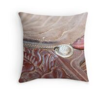 At the Fly Rodeo Throw Pillow