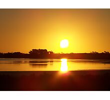 Sunset across Lake Sunday 22nd Jan 2007 Photographic Print