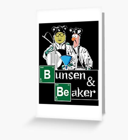 Bunsen   Beaker Greeting Card