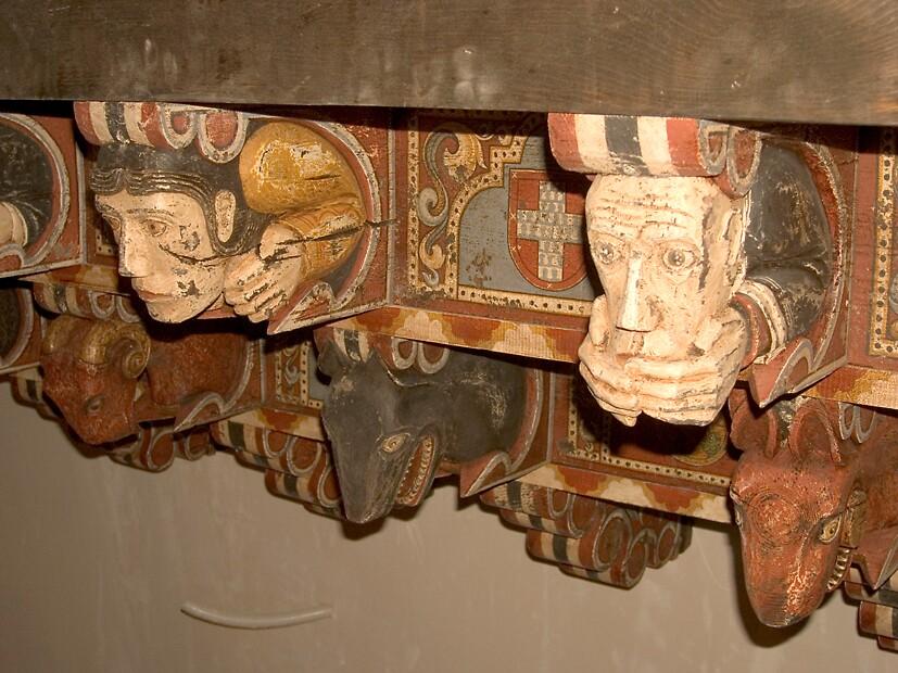 Detail from canecillos by Blas Quesada Ruiz