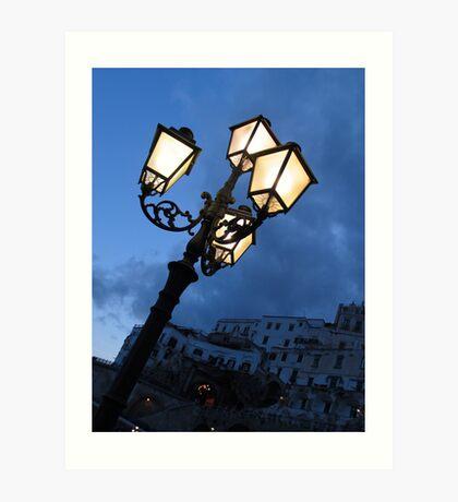 Amalfi Lights Art Print