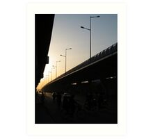 Freeway Sunset Art Print