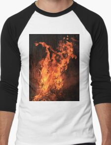 Fire and Flame Background - Hot Beauty Men's Baseball ¾ T-Shirt