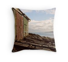 Boatsheds at Second Valley Throw Pillow
