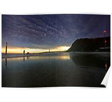 Merewether Ocean Baths at Dusk Poster