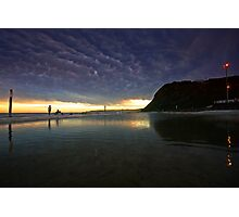 Merewether Ocean Baths at Dusk Photographic Print