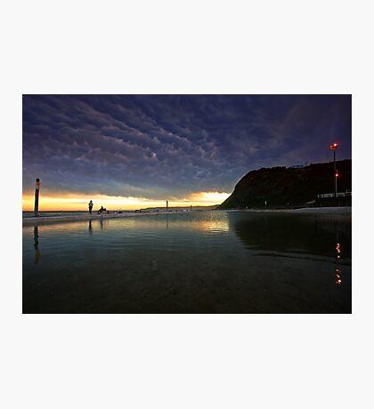 Merewether Ocean Baths at Dusk Photographic Print
