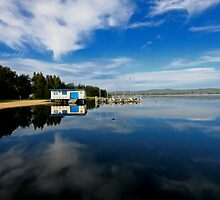 Tuggerah Lake Reflection by Mark Snelson