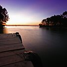 Tuggerah Lake at Dusk by Mark Snelson