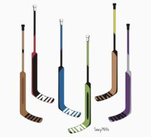 Goalie Hockey Sticks by SaucyMitts