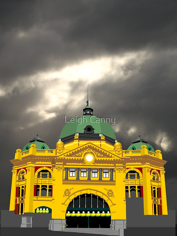 Flinders Street Station by Leigh Canny